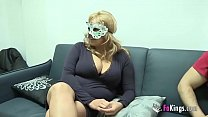Big boobed blonde want to fuck masked guy preview image