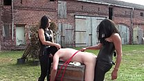 Outdoor strap on dildo