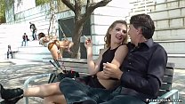 Naked Euro slave walked in public video