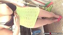 Sexy busty asian teasing