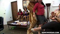 CFNM Office Party Cock Blowout with Big Dick Male Strippers (db9442) thumbnail