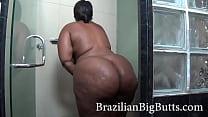 BrazilianBigButts.com huge bbw booty being observed in the bath