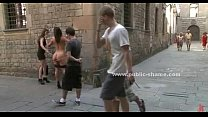 Sex slave fucked in public bdsm humiliation sex video preview image