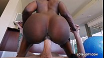 Ebony tight ass teen Ana Foxxx and white cock