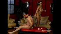 Lusty stunner Gianna Michaels really enjoys spanking a latex-clad stallion porn thumbnail