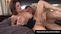 Busty Cougar Mom Deauxma Sucks & Fucks Young Fr...