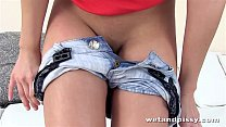 Wetandpissy first time teen pissing in her denim pants thumbnail