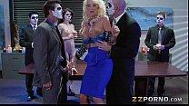 Busty blonde pornstar Courtney Taylor double pe...