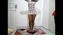 gata dançando kizomba saia branca preview image