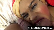 17736 HD Big Mouth Open Blonde Babe Cumshot Explosion Over Cute Ebony Face And Intense Blowjob Facial Msnovember preview
