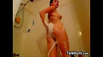 Petite Cam Girl Takes A Shower