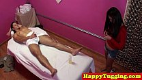 Screenshot Real Jap Masseuse Rubs Customers Dick