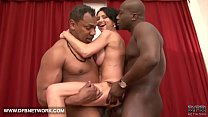 Interracial hardcore mature babe fucked by two black cocks doublepenetrated anal
