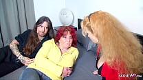 German Big Dick Rockstar First Time FFM Threesome with MILFs