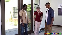 Rich Twink Welcomes Two Hung Black Gay Men