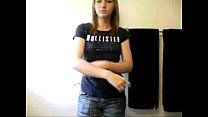 Girl strips nak ed in her bathroom oom