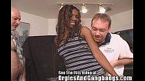 Ebony Caren's White Cock Gang Bang In Tampa