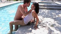 Randy stud licks Asian babe Dana Vespoli's puss...