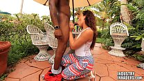 Sexy Latina Sucks Black Dick For Fireworks With Lucy Monroe