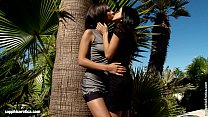 Outdoor Bliss by Sapphic Erotica - sensual lesbian sex scene with Henessy and An