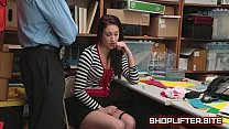 Naiomi Mae Blackmailed And Fucked By Store Detective