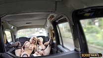 Two Dutch ladies in hot masturbation in the backseat thumbnail