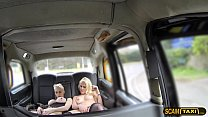 Two Dutch ladies in hot masturbation in the backseat image
