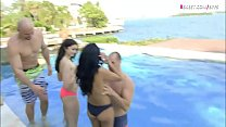 Two college teen girls nasty foursome - 9Club.Top