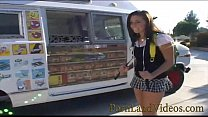 young college slut Grace fucking for free ice cream