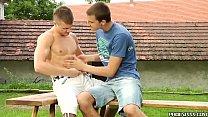 European gay Benjamin Dunn barebacks muscular stud