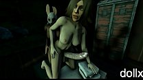 Futa Laurie and Futa Huntress SFM porno animation by dollx