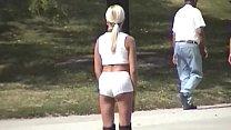 VOY beach Rollerblading White Tight Shorts