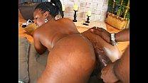 Ebony chick sucks and fucks a massive black cock Thumbnail