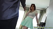 Blackcock lusting stepteen seduces stepdad