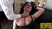 Blonde babe Jaiden West with big fake boobs doi... thumb