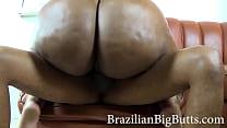 BrazilianBigButts.com WatermelonButt Massive BBW Black Ass on couch
