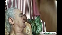 Horny old dick  gets to fuck a younger slutty  younger slutty babe hi 1