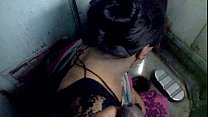 aunty blowjob in train