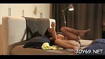 Kinky woman Carolina bury a rubber dildo inside her gap