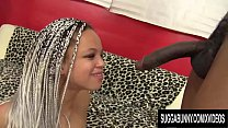 Braided Black Babe Ashley Love Sucks and Fucks a BBC