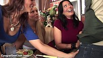 Three Stacked MILFs Desperate For Dick! video