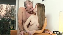 OMG My dad fucks young cleaning lady after she seduces him with his tight pussy and sexy outfit she sucks his cock and lets the daddy fuck her wet pussy hardcore on the couch صورة