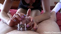 I locked you in chastity while you were napping pornhub video