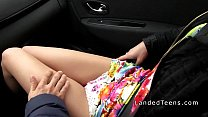 8106 French redhead teen banged in public preview