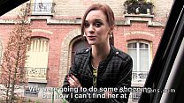 French redhead teen banged in public thumbnail