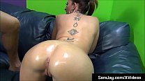 PAWG Milf Sara Jay Uses Extra Virgin Olive Oil To Fuck Cock! Image