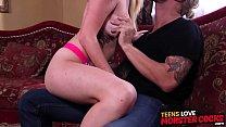 Huge dick slamming busty teen slut Iris Rose until she cums pornhub video