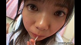 Young japanese teen gives a perfect blowjob and swallow forced breeding porn
