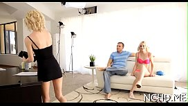 Babe on a sexy casting movie scene