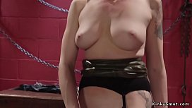 Blonde dom anal fingers sexy lesbian sub